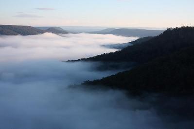 Morning cloud inversion at Hylands