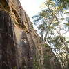 It's long for Nowra! First ascent of Birds Over Burnouts (22) at Liquidity Wall.