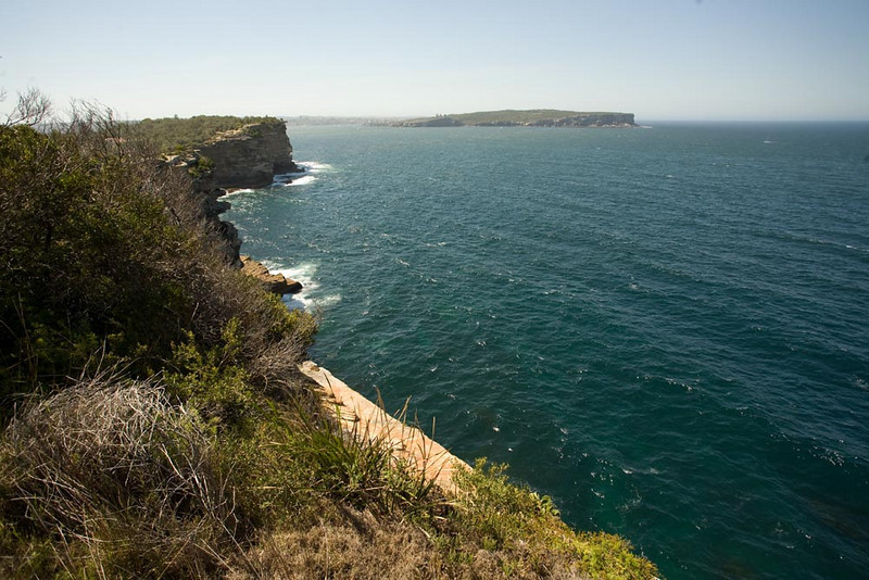 Looking north from the infamous The Gap cliffs.