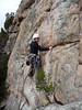 Dorothea on Rush Hour, Death Row Pinnacle, Mt Arapiles.