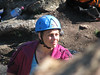 Michelle looking thoughtful before the climb.