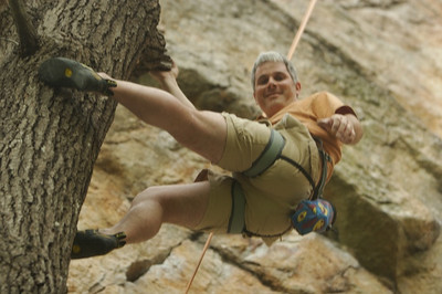 Gordon climbing trees instead of rocks... :)