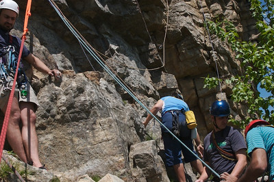 Lots of room atop the Baby Belay Ledge