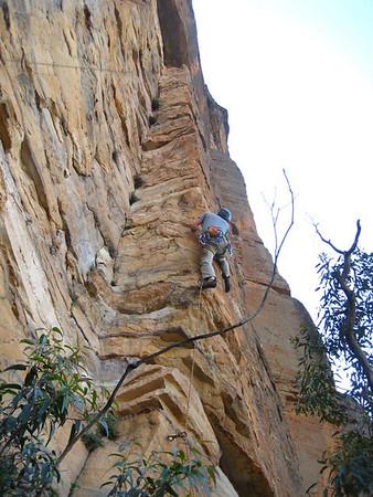 24.10.2009 - SlackBladder first ascent, Blue Mtns