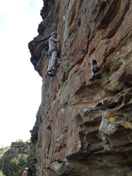 David on Gosling, Duck Wall, Bell Supercrag, Blue Mountains.