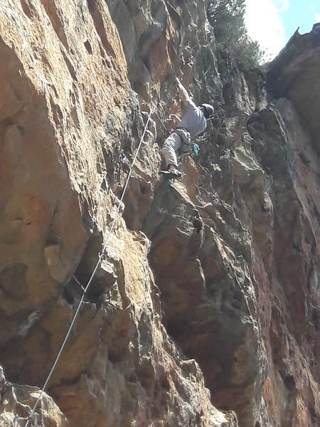 David on Seamstress, Bells Supercrag, Blue Mountains.