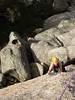Bett seconding Big Fun (15) Not sure at this stage if it was Big Fun more like Big Scary.  Only her second climb at Buffalo.  Needing a bit more time to get her Buffalo head on!