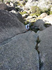 John on the 1st pitch (12) of The Pintle, The Horn, Mt Buffalo, 22/1/2012.