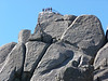 Abseiling from The Horn, Mt Buffalo, 22/1/2012.