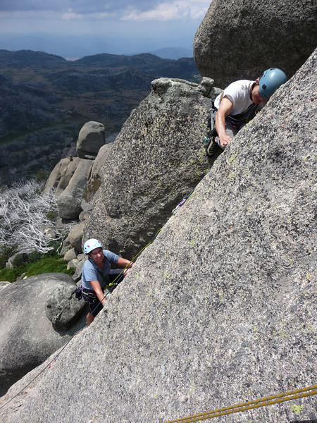 Patrick and Lucy on Profanities, The Horn, Mt Buffalo.