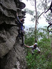 Haggis and David take a variant to the last pitch, Catwalk, Chimney Pots