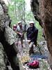 Haggis, David and Cameron at the last pitch, Catwalk, Chimney Pots