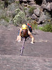 Tracey on Xanthene......getting closer to that tricky overhang. (Cathedral Ranges Trip, Feb 07)