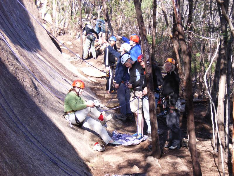 Beginners Toproping day at the You Yangs