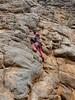 Sarah on Edgell Gerber Memorial Flake Climb, Mitre Rock, Arapiles.