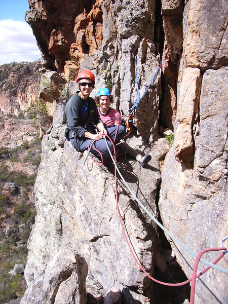 Heather and Ruby on Eskimo Nell, Arapiles.