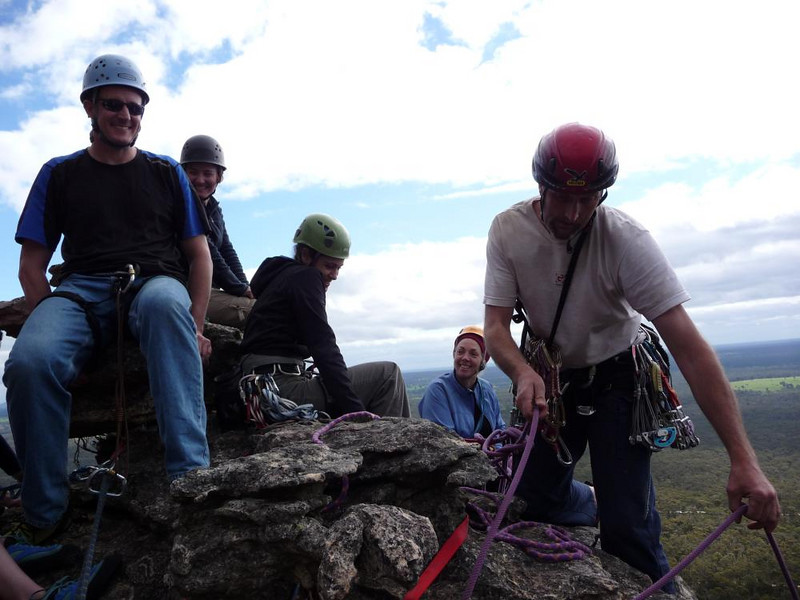 """Cameron said """"How many climbers can we fit on top of this pinnacle?"""""""