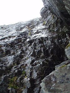 We rapped down this... it was rather wet.