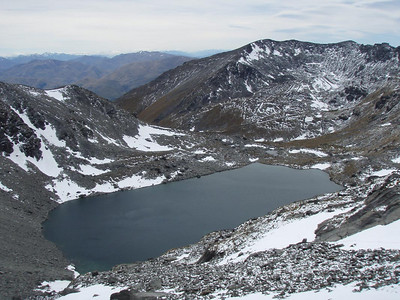 Alta Lake - with the Remarkables ski field in the background