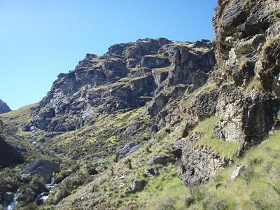 Wye Creek upper crags - multipitch fun.