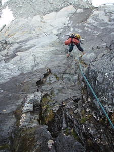 This is a nice ice climb in winter. In 'summer' it was a waterfall.