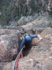 Krissie on Flying Buttress, Moonarie.