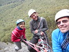 Jo, Amber & Ben on Last Rites, Mt Rosea.