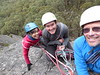 Jo, Amber & Ben on Last Rites, Mt Rosea.