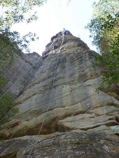 Patrick, Sloth Buttress, Thompson's Point, Nowra.