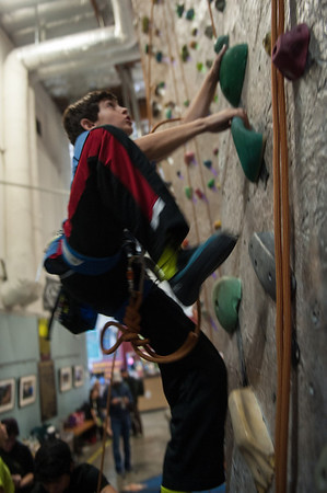 Pacific Edge competing at 2014 NorCal Youth Climbing League,