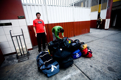 We fitted four climbers, one driver and 250kg of bags in one small corolla taxi.