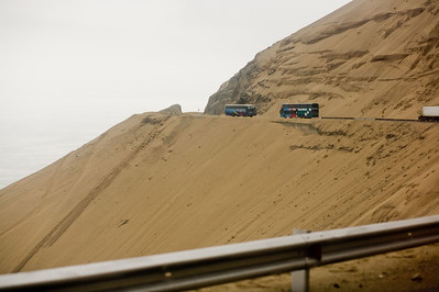 I'm not sure how the road actually stayed where it was with all the sand.