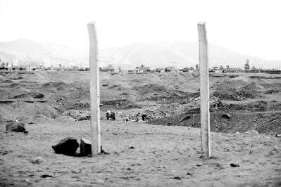Wasteland of dust on outskirts of Lima.