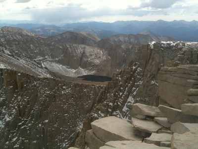 View from the summit - wow.