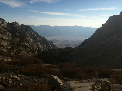 View down towards Lone Pine.