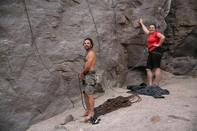 Owens River Gorge - the first climbers we bumped into were Australians - who knew everyone.