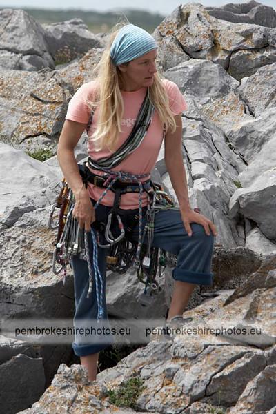 Climbing near St Govans.