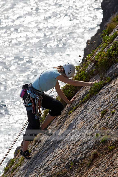 Climbing near Bullslaughter Bay.