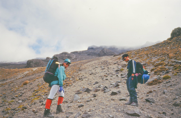 The volcano went into eruption three weeks after our ascent.  1994