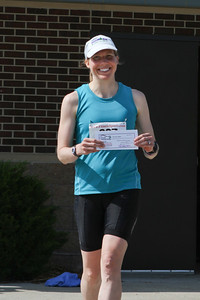 Carrie placed first in her age group, and second woman overall