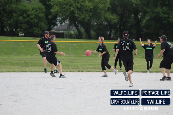 Party In the Park 2019 Valpo Fire VS Valpo Police Kickball Game 2019