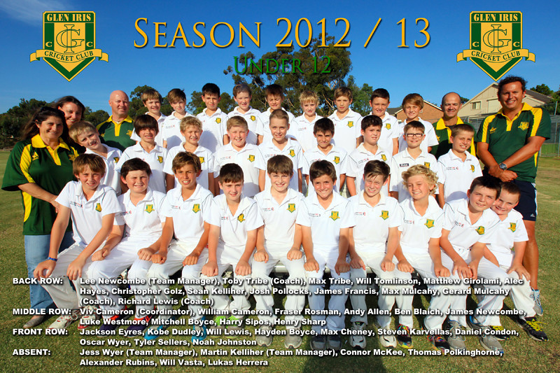 Under 12's<br /> Season 2012/13