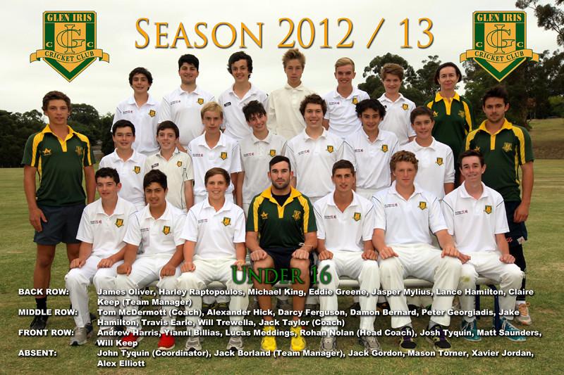 Under 16's<br /> Season 2012/13