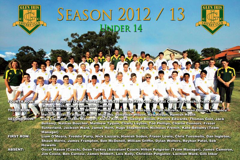 Under 14's<br /> Season 2012/13