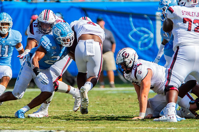 UNC Tarheels v USC Gamecocks Belk Bowl Kickoff @ BOFA 8-31-19 by Jon Strayhorn