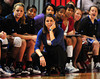 Nov 20, 2011; Bowling Green, KY, USA; Duke Blue Devils head coach Joanne McCallie watches her team play against the Western Kentucky Lady Toppers during the first half at E. A. Diddle Arena. The Blue Devils beat the Lady Hilltoppers 80-54. Mandatory Credit: Don McPeak-US PRESSWIRE