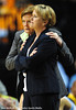 Mar 3, 2012, Nashville, TN, USA; Tennessee Lady Vols head coach Pat Summitt confers with associate head coach Holly Warlick in a game against the South Carolina Gamecocks during the semifinal round of the SEC tournament at Bridgestone Arena. The Lady Vols beat the Gamecocks 74-58. Mandatory credit: Don McPeak-US Presswire.