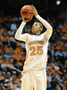 Dec 16, 2009; Knoxville, TN, USA; Tennessee Lady Vols forward Glory Johnson (25) shoots against the Louisville Cardinals during the second half at Thompson Boling Arena. The Lady Vols beat the Cardinals 86-56. Mandatory Credit: Don McPeak-US PRESSWIRE