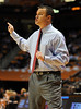 Dec 16, 2009; Knoxville, TN, USA; Louisville Cardinals head coach Jeff Walz instructs his team against the Tennessee Lady Vols during the first half at Thompson Boling Arena. The Lady Vols beat the Cardinals 86-56. Mandatory Credit: Don McPeak-US PRESSWIRE