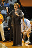 Dec 16, 2009; Knoxville, TN, USA; Tennessee Lady Vols head coach Pat Summitt instructs her team against the Louisville Cardinals during the second half at Thompson Boling Arena. The Lady Vols beat the Cardinals 86-56. Mandatory Credit: Don McPeak-US PRESSWIRE